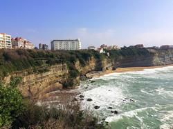 La playa de Miramar de Biarritz.