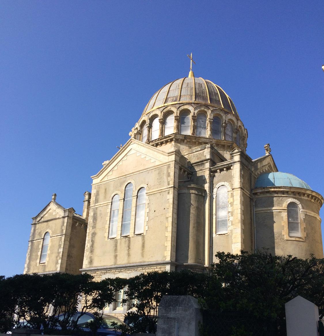 La Iglesia Ortodoxa de Biarritz.