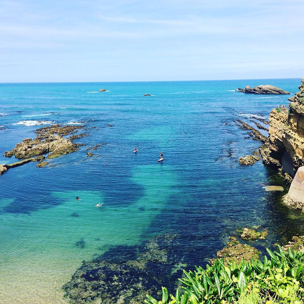 Playa del Puerto Viejo de Biarritz (Plage du Port Vieux).