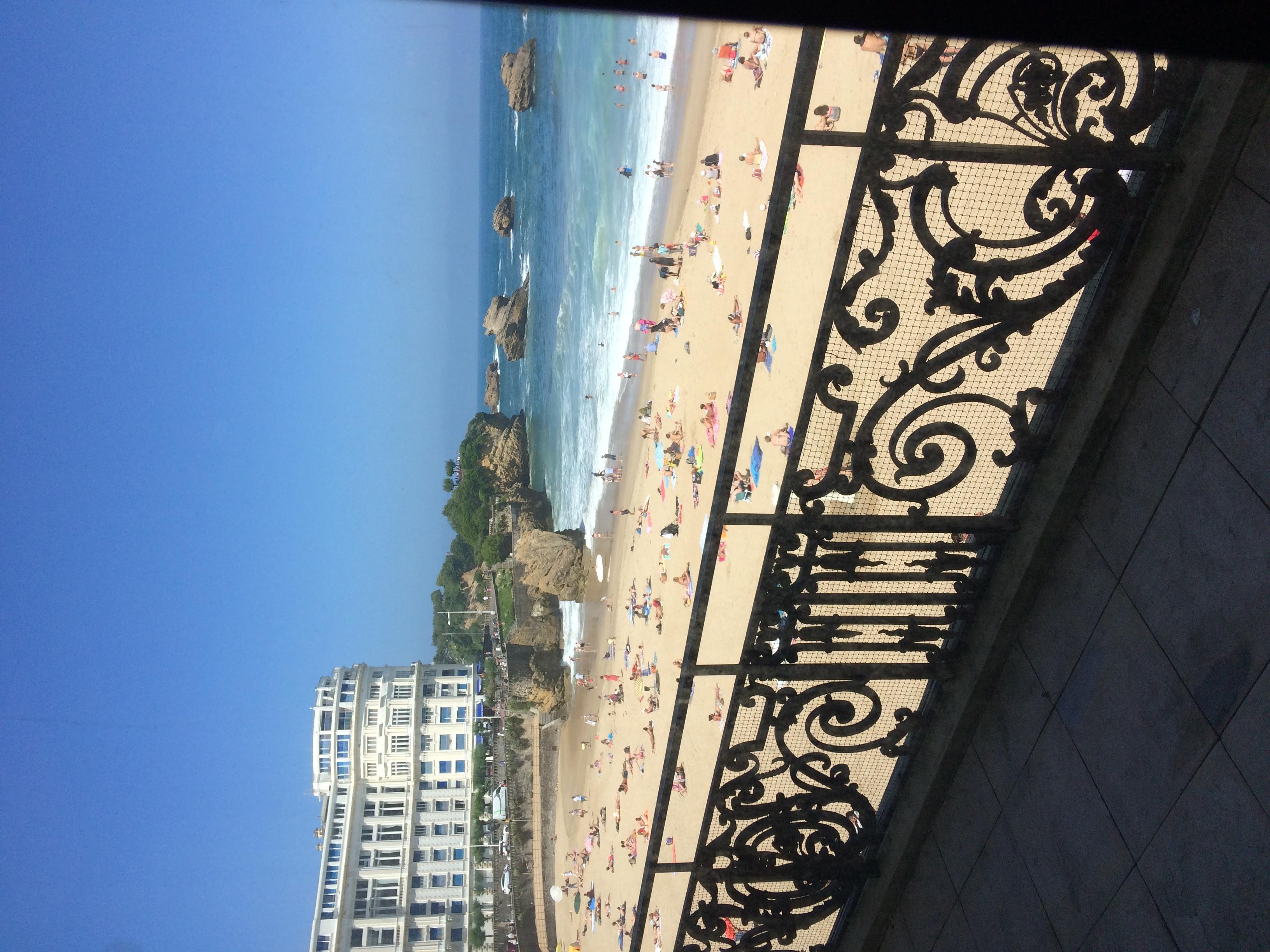 La Grande Plage de Biarritz.