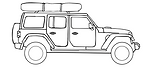 Jeep Wrangler Rubicon with roof top tent