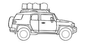 Toyota FJ Cruiser Roof Top Tent