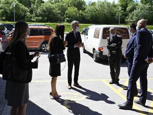 Novinarska konferenca z ministrom Janezom Ciglerjem Kraljem