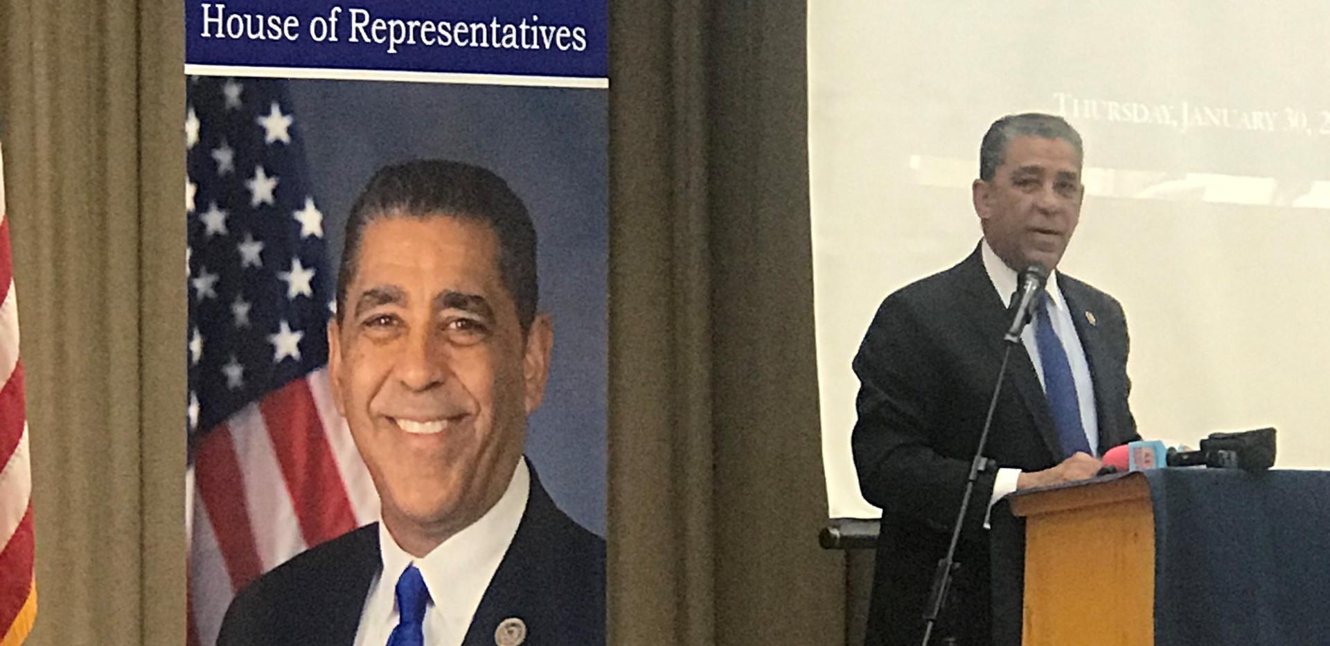 Congressman Adriano Espaillat giving his