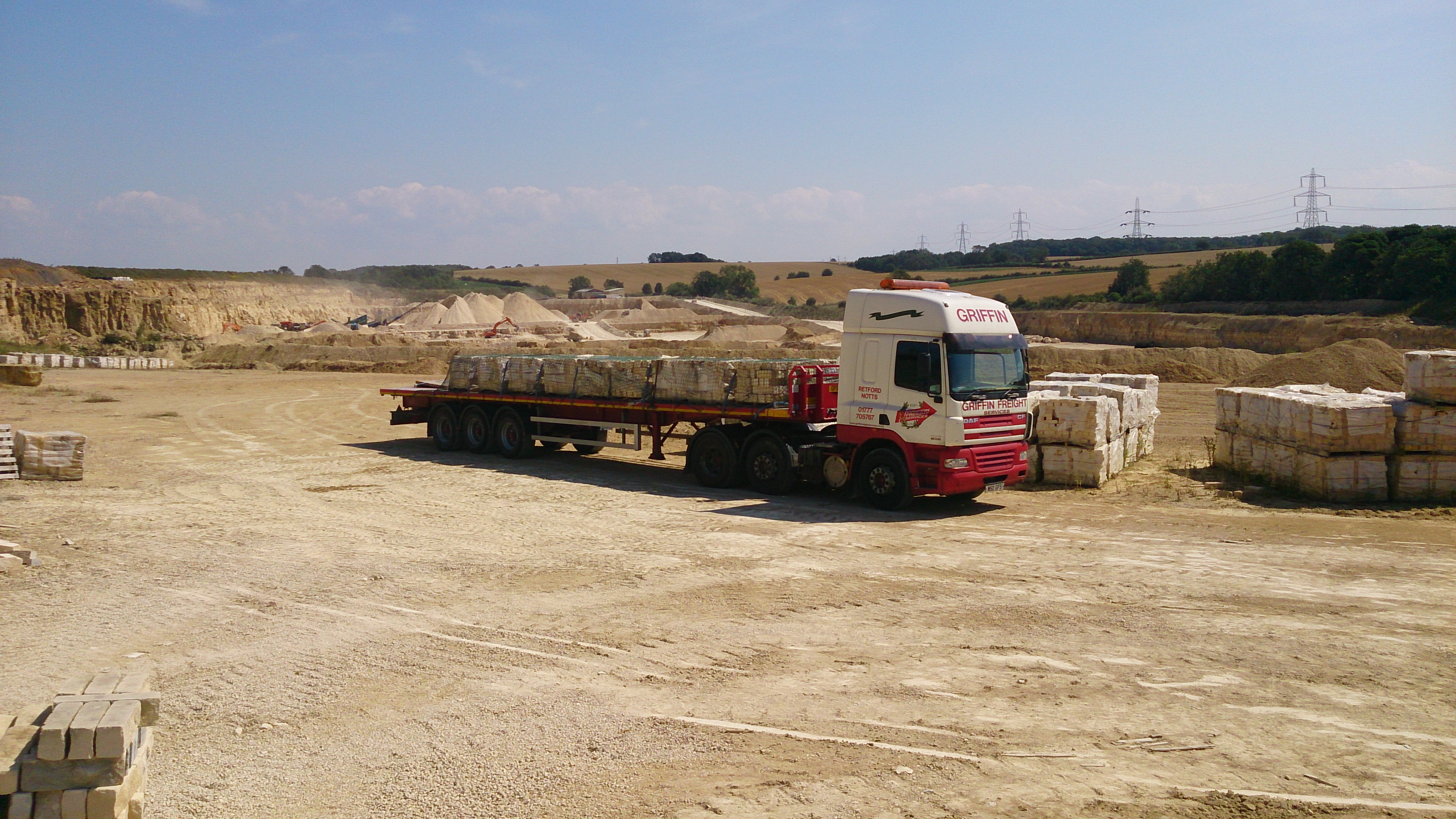 CF in a quarry