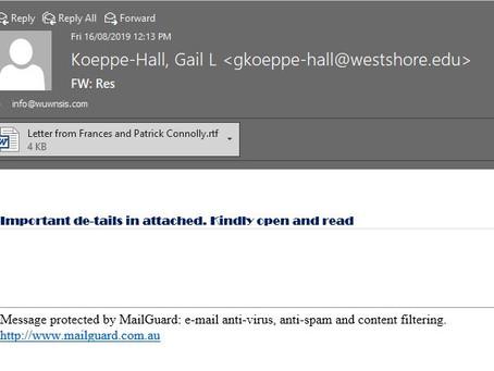 New Phishing email - RTF Scam