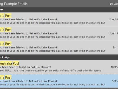 Australia Post Survey Phishing Emails