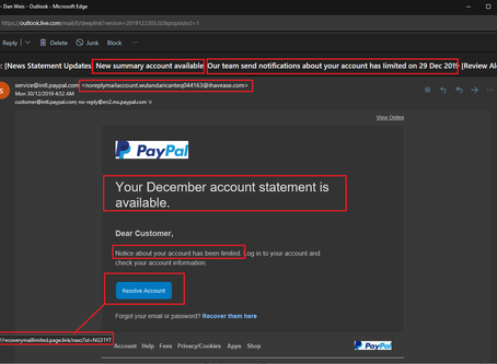 So which one is it?  an account statement or a limited account?