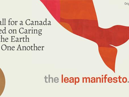 Un grand bond vers l'avant (Leap Manifesto)