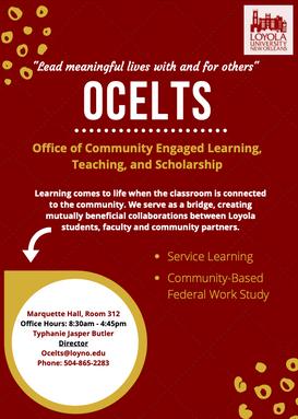 Loyola Office of Community Engaged Learning, Teaching & Scholarship