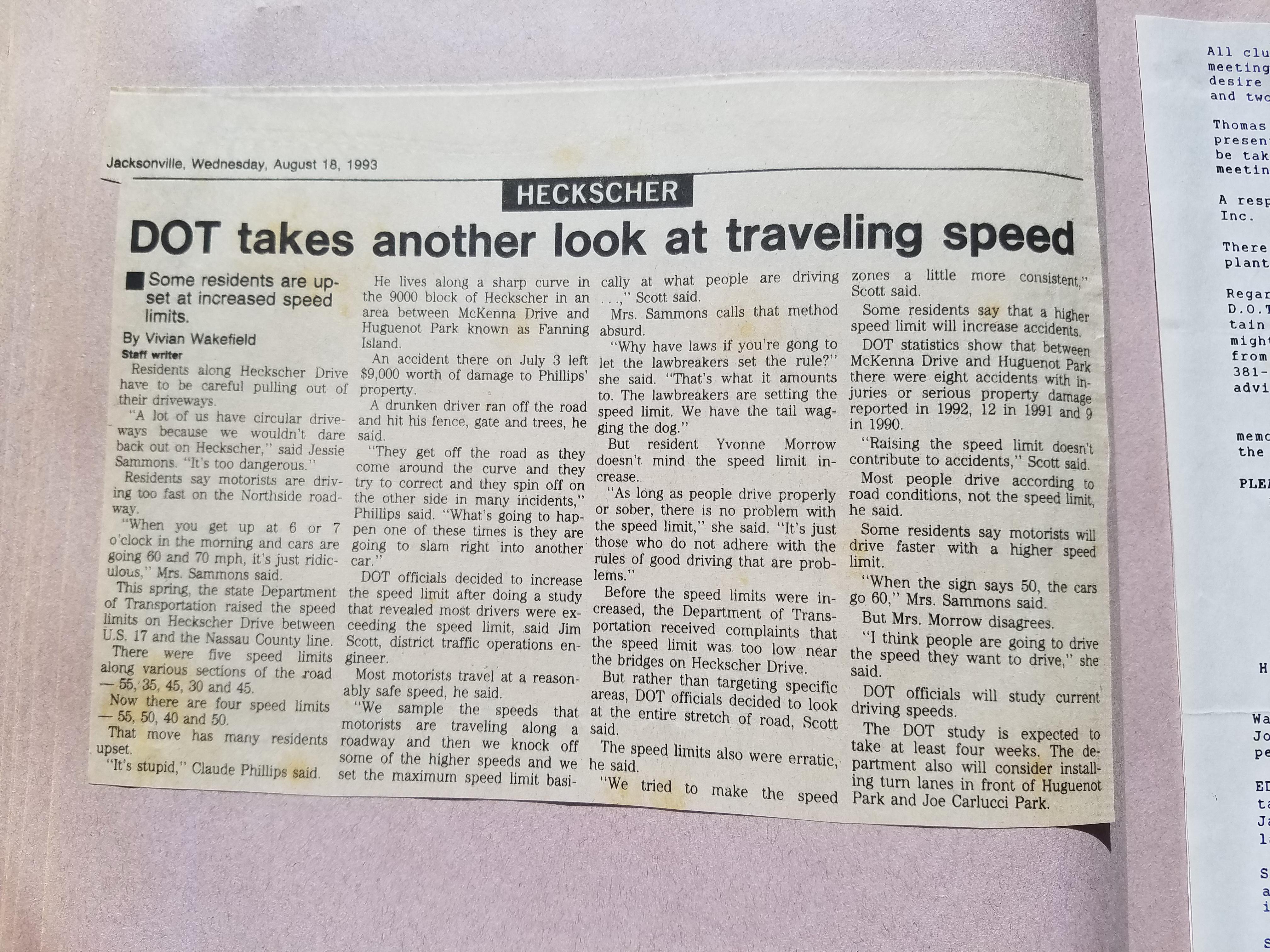 Speeding on Heckscher Drive