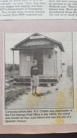 Fort George Post Office in 1960's