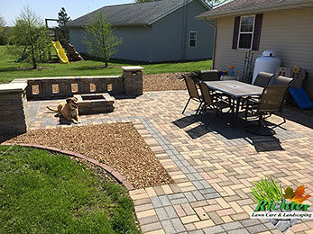 Paver patio finished in Sullivan Windsor Bethany Mattoon Shelbyville