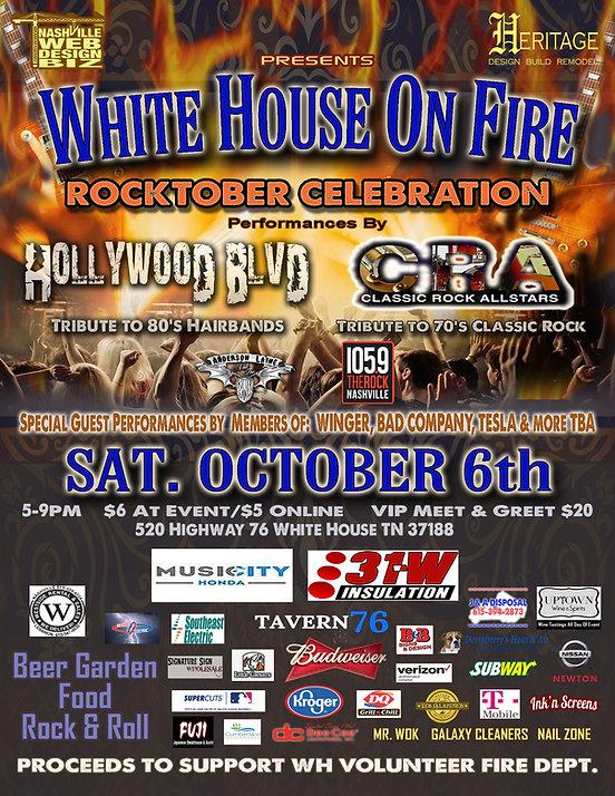 White house on Fire Rocktober celebratio