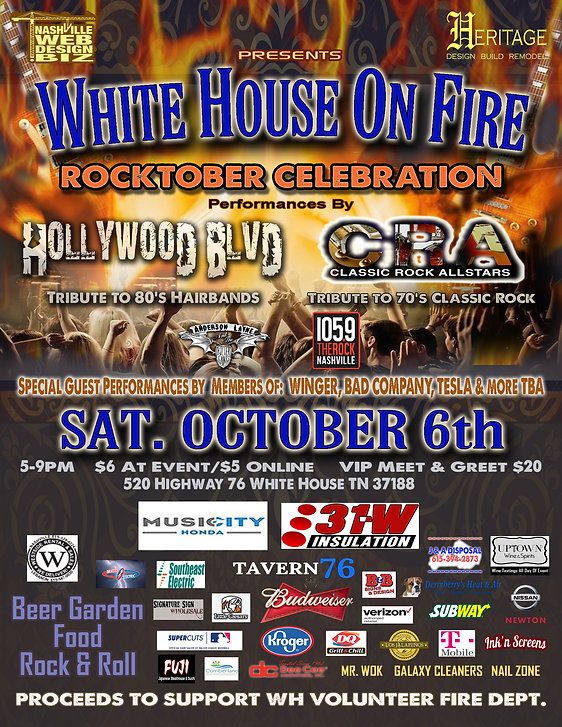 White house on Fire Rocktober celebratio