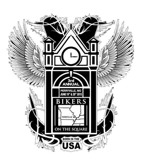 Kid Kentucky in the American badass band kid rock tribute show Bikers on the Square  logo