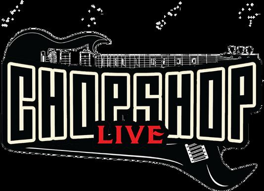 Kid Kentucky in the American bad ass band kid rock tribute show Chop Shop Live logo