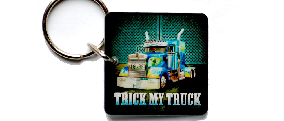 Trucker Key Chain : Trick My Truck - Green Eagle