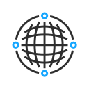Internet connections in the shape of a circle
