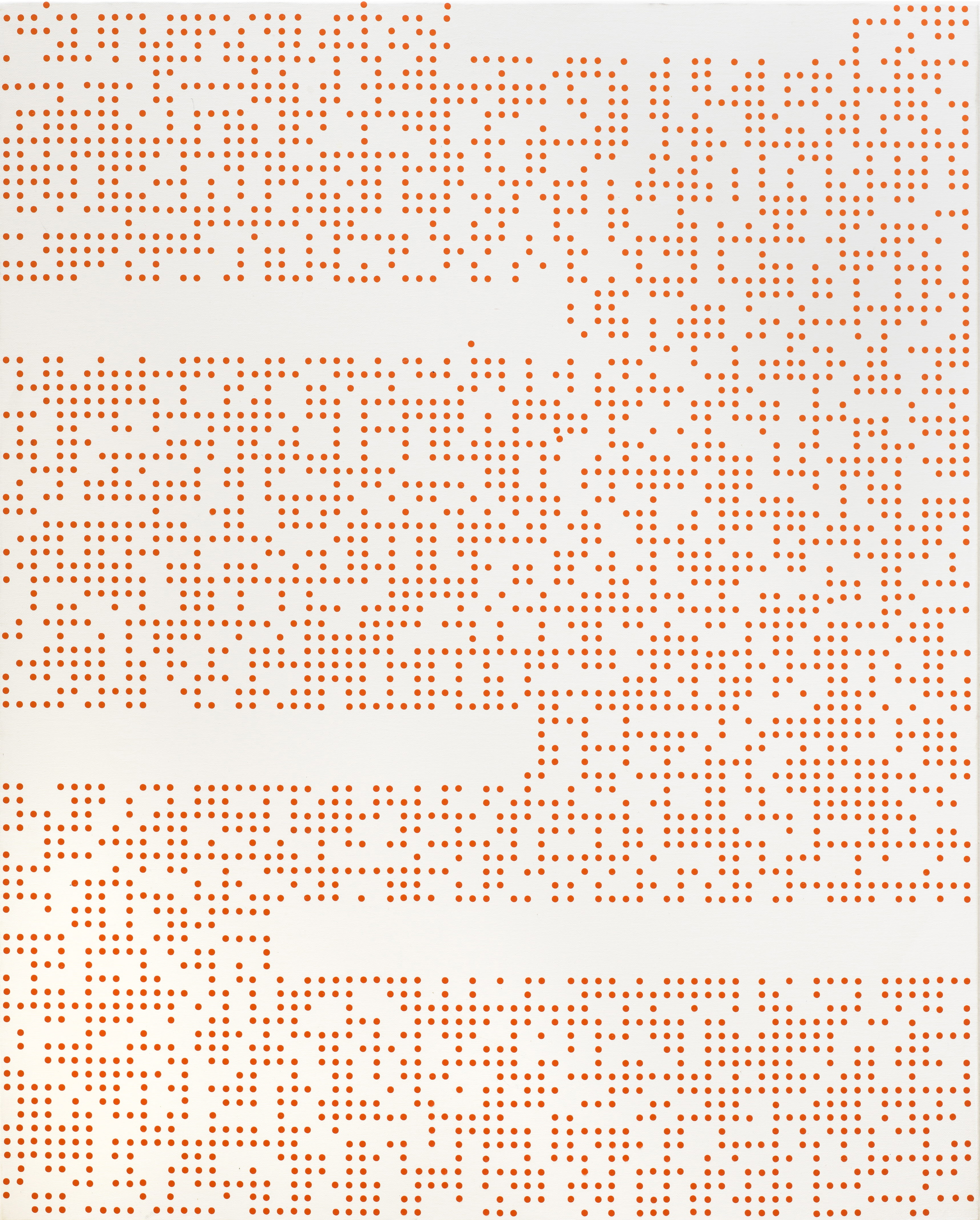 ENCODING 2015, Acrylic on canvas, 90.9 x 72.7cm (3)