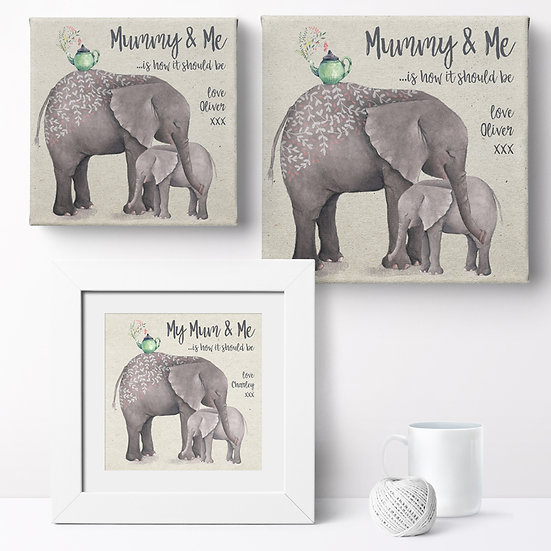 Personalised 'Mummy And Me' Prints and Canvases 1