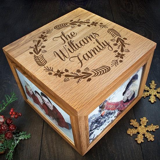 Personalised Family's Christmas Memory Box Corner View