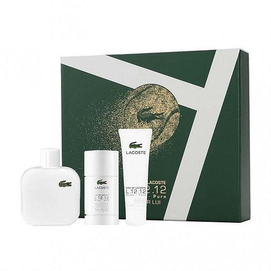 Lacoste Eau de Lacoste L.12.12 Blanc Gift Set 100ml EDT + 75ml Deodorant Stick +