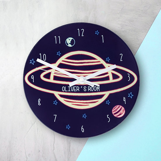 Out Of This World Personalised Space Wall Clock view 1