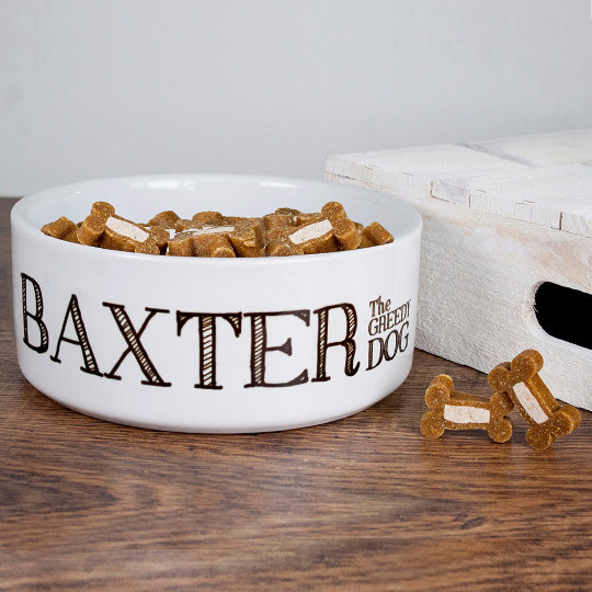 Personalised Greedy Dog Dogs Bowl