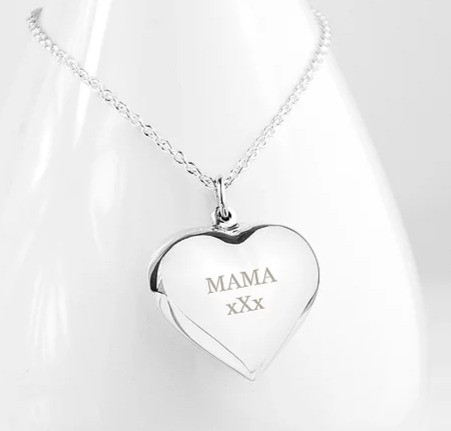 Personalised Cherished Heart Silver Necklace 2