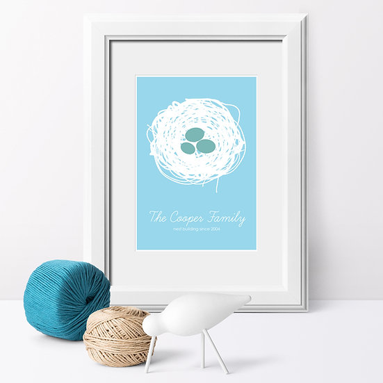 Personalised Family 'Nest' Print 1