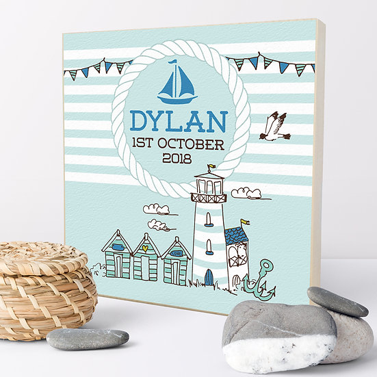 Personalised 'Nautical' Picture Blocks