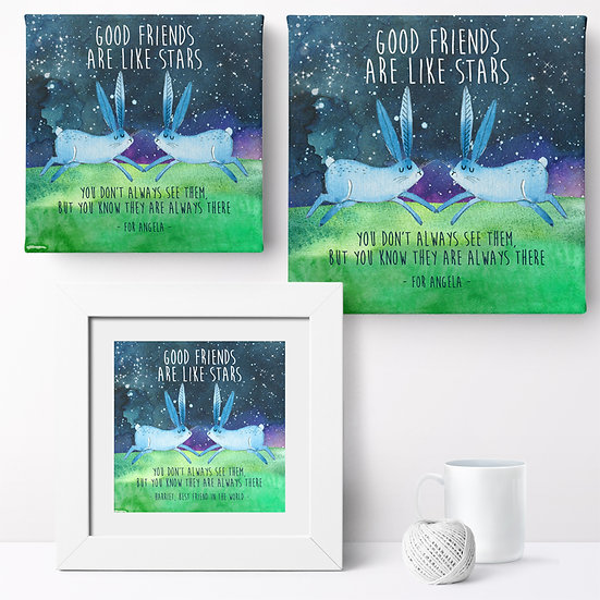 Personalised 'Good Friends' Prints and Canvases 1