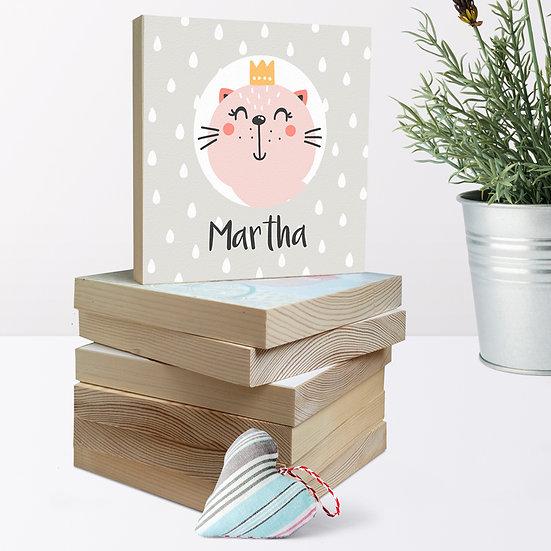 Personalised 'Kitten Princess' Picture Blocks