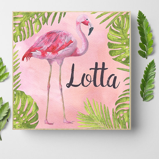 Personalised 'Flamingo' Picture Blocks
