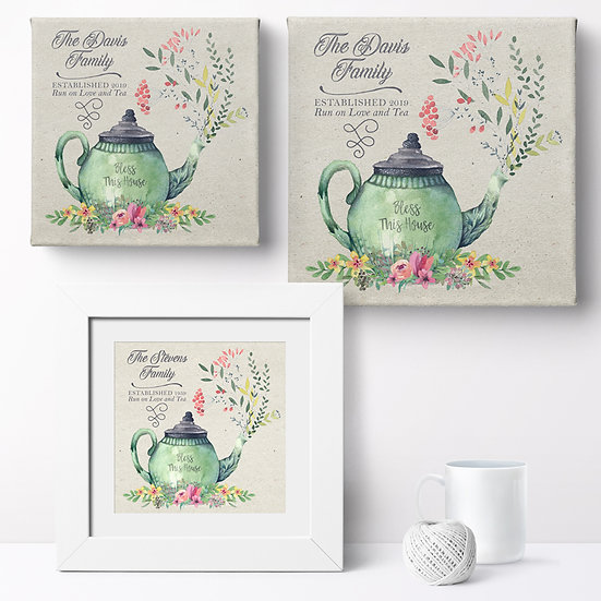 Personalised 'Love And Tea' Prints and Canvases 1