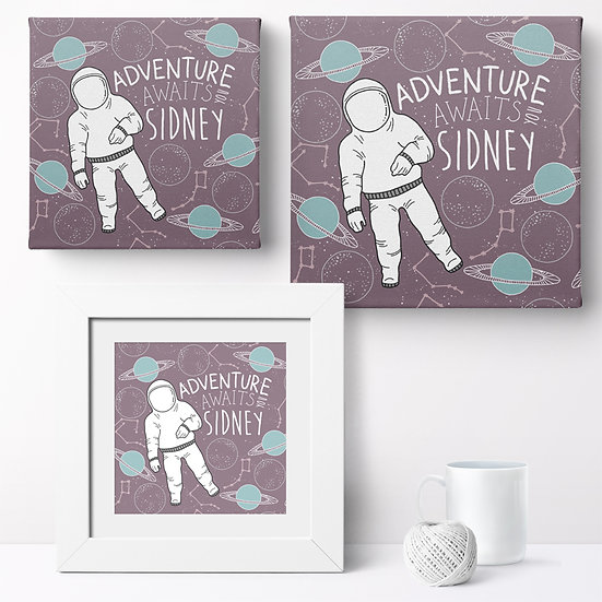 Personalised 'Space Adventure' Prints and Canvases