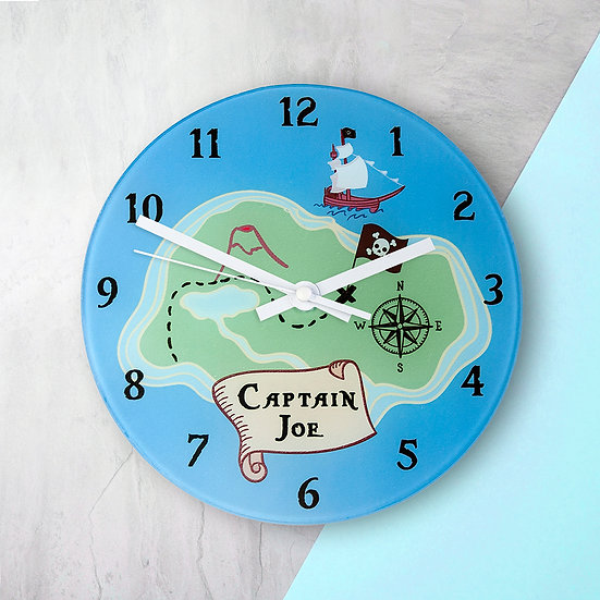 Arrrr! Personalised Pirate Wall Clock view 1