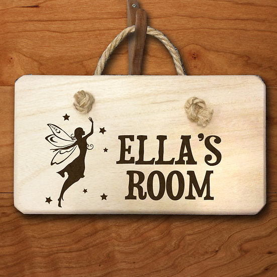 Personalised Fairy Engraved Door Hanger