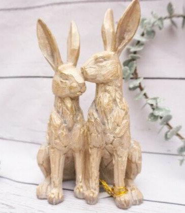 Leonardo Driftwood Twin Hares Ornament