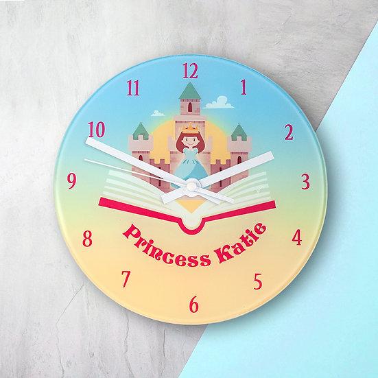 Storybook Princess Personalised Wall Clock view 1
