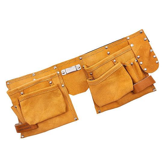 Personalised Leather 11 Pocket Tool Belt
