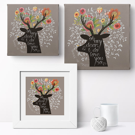 Personalised 'My Dear' Prints and Canvases 1