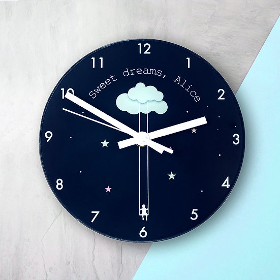 Sweet Dreams Little One Personalised Wall Clock view 1