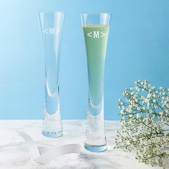 Monogrammed Champagne Flutes Set of 2