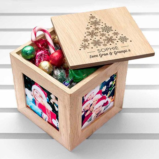 Christmas Photo Cube With Festive Treats