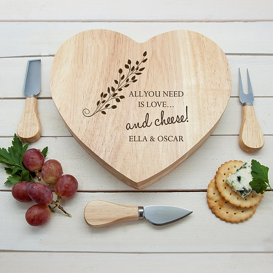 All You Need is Love' Heart Cheese Board 1