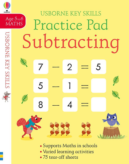 Subtracting Practice Pad 5-6