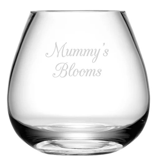 Personalised Bouquet Vase with two lines of engraving