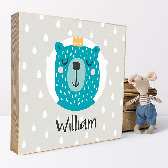 Personalised 'Bear Prince' Picture Blocks